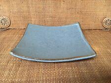 Japanese Sushi Plate Blue Glazed Ceramic Square Shaped Dish