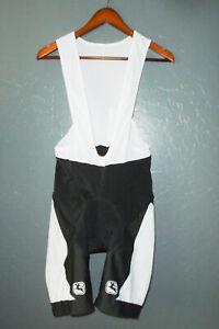 GIORDANA Cycling BIB Shorts BLACK Bike Cycle PADDED Suit ITALY Mens LG (4)