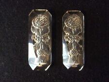 Une qualité paire de Victorian biseauté CRISTAL/VERRE taillé intaglio knife rests