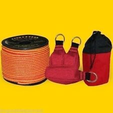 Arborist Throw Bag Kit,166' Throw Line, 3 Throw Bags, Mini Storage Bag