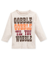 First Impressions Baby Boys' Long-Sleeve Gobble Gobble Thanksgiving T-Shirt