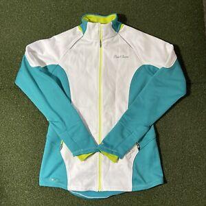 Pearl Izumi Jacket Womens Medium Cycling Biking Full Zip Blue White Yellow