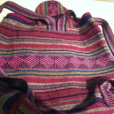 Mexican Canvas Aztec Cotton Bag Everyday Boho Casual Leisure Unisex Gipsy Light