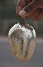"Vintage 4"" Original Oval / Egg Shape Heavy German Glass Kugel, Collectible"