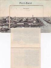 K 538 -selten! Port Said, Panorama mit Leoporello, 1909 gelaufen