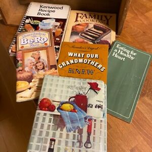 Vintage Mixed Lot 6 Recipe / Cookery Books – Be-Ro Kenwood – Great!