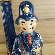 💥RARE VINTAGE French Bar Coffee Table Agent De Police Lamp Blue Collectible💥