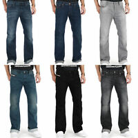 Diesel Zatiny Mens Regular Fit Bootcut Dark Medium Blue Stretch Denim Jeans