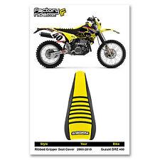 2000-2015 SUZUKI DRZ 400 Black/Yellow/Black RIBBED SEAT COVER BY Enjoy MFG