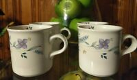 """Phaltzgraff """"April Pattern"""" Coffee Cups - Set of 4  - Height 3 1/4 inches"""