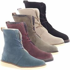 Lacoste Women's Baylen Lace Up Boot High Shaft Suede Faux Fur Lining for Winter