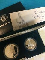 1995 CIVIL WAR BATTLEFIELD COMMEMORATIVE PROOF SILVER $ + 1/2$ Set from US MINT
