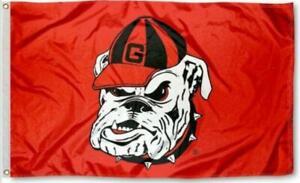 Georgia FLAG 3X5 Bulldogs Football New Fast USA Shipping Bull Dog Bull Dogs Dog.