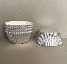 Silver Foil Cupcake Liners, Silver Cupcake Wrappers, Silver Baking Cups