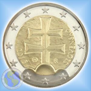 """2 Euro SLOWAKEI 2015 - Kursmünze """" Doppelkreuz """" # PP / Proof aus orig. KMS"""