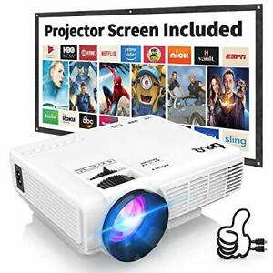 DR.Q HI-04 Projector with Projection Screen 1080P Full HD and 220'' Display