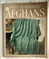 Mile-A-Minute Afghans Crochet Patterns Book 56 Quick & Easy Crocheted Designs