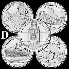 Free Shipping 2010-2019 National Park Quarter Set 46 BU Coins
