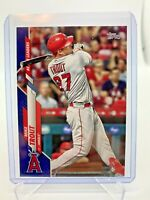 2020 Topps Update Mike Trout #U-292 Blue Parallel Active Leaders Angels MVP