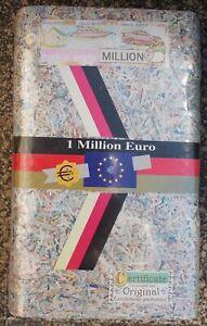 1 Million Euro geschreddert aus Original Euro-Banknoten mit Zertifikat