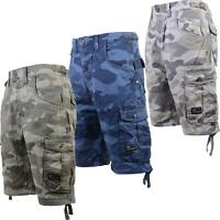 Mens S&J By Crosshatch Military Cargo Combat Camo Army Bermuda Shorts Pants New