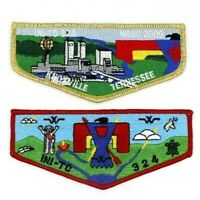 Lot of 2 Ini-To Lodge 324 Flaps Flint River Council Patches GA OA BSA