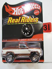 HOT WHEELS 2014  '83 CHEVY SILVERADO 4X4  REAL RIDERS