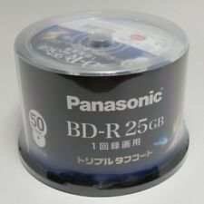 Panasonic Blu ray 25GB BD-R Printable Bluray Discs 6X Speed 50 LM-BRS25M50S New