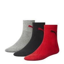 Puma Unisex Short Crew Sport Tennis Socken 3 Paar Pack in vielen Farben NEU