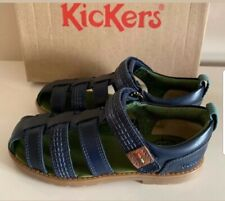 KICKERS ORIN Dark Blue Leather Sandals - UK12 infant EU29 free P&P
