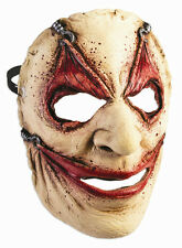 Piercing Frontal Face Mask Hooked Gruseome Stretched Wide Eyes Mouth Halloween