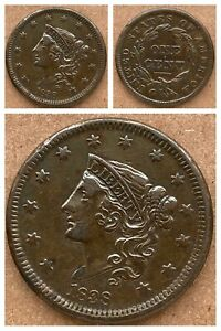 1838 LARGE CENT - XF DETAILS -Look!