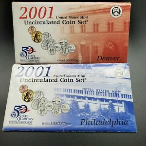 2001 US Mint Uncirculated Set OGP COA RobinsonsCoinTown Combined Ship Discounts