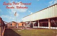 Omaha Nebraska~US Flag @ Eppley Field Terminal~1950s PC