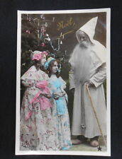 Beautiful French Father Christmas Real Photo - Tinted