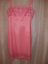 RIMINI LADIES SPECIAL OCCASION DRESS PINK BEADED SZ 2P $250 SIMPLY GORGEOUS NEW