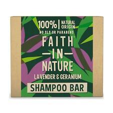 💚 Faith in Nature Natural Lavender & Geranium Shampoo Bar 85g