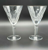 Pair of Vintage Water & Wine Goblet Sheila (Cut) by Waterford Crystal Signed