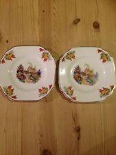 "2 x Melba Bone China Cottage Design Tea Plate 6"".  Made in England"