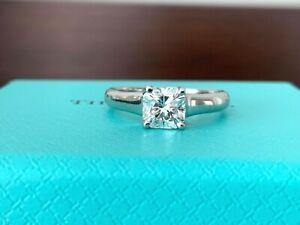Tiffany & Co Platinum and Diamond LUCIDA Engagement Ring .76 CT G VVS2 $9k NEW