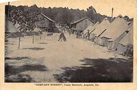 Augusta Georgia~Camp Hancock~Company Street~Soldiers~Rifles Stacked~c1917 B&W PC