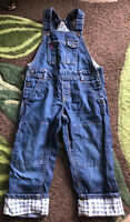Boys Girls H&M Dungarees Coveralls Overalls Blue Denim 1.5 - 2 Years Poppers