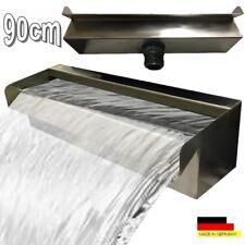 "Chute d eau de 90 cm en acier inoxydable Cascade fontaine V2A ""Made in Germany"""