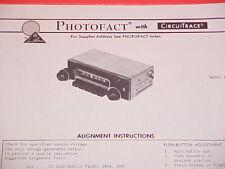 1973 MOTOROLA AM RADIO SERVICE MANUAL TM573A CHEVROLET FORD CHRYSLER DODGE BUICK