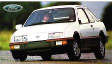 1983/1984/1985 Ford SIERRA XR4i SPEC SHEET / Brochure; XR4-i