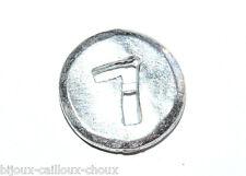 """1 BOUTON original du créateur BICHE DE BERE métal """" chiffre 7 """" 12mm button"""