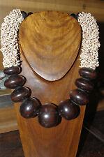 collier en terre cuite et ébène du mali ethnique afrique