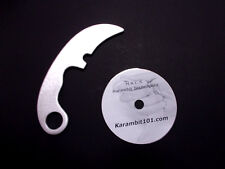 Aluminum Karambit Training Knife Instruction Video Martial Arts Supply