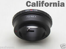 Lens Adapter For CANON FD to Sony NEX5 NEX5C 7 C3 NEX-VG10 VG20 5N Ring Mount