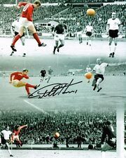 Geoff Hurst SIGNED 1966 World Cup Final Montage 10x8 Photo AFTAL Autograph COA